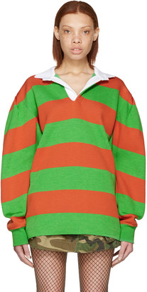 Marc Jacobs Green & Orange Rugby Polo $895 thestylecure.com
