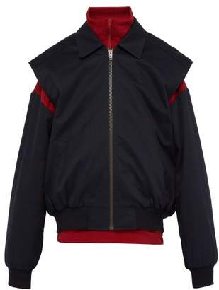Balenciaga Gilet And Funnel Neck Sweater Blouson Twinset - Mens - Red Navy