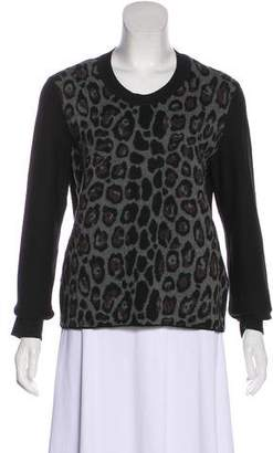 Sonia Rykiel Leopard Knit Sweater