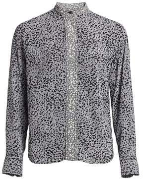 Rag & Bone Christine Two-Tone Leopard Print Blouse