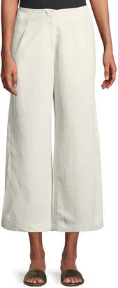 Zero Maria Cornejo Tin Lightweight Linen-Blend Wide-Leg Pants