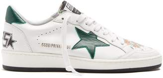 Golden Goose Ball Star low-top floral-print leather trainers