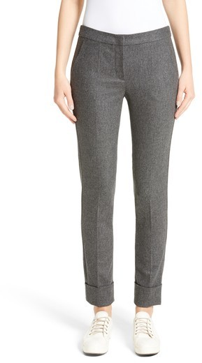 Women's Armani Collezioni Stretch Wool & Cashmere Flannel Pants