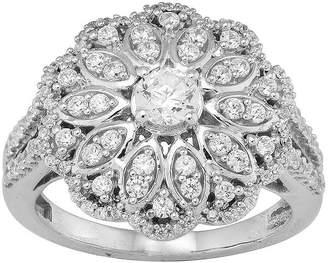JCPenney MODERN BRIDE 1 CT. T.W. Diamond 10K White Gold Flower Ring