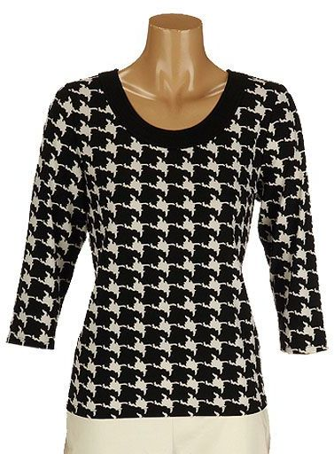 Tanjay  houndstooth knit top