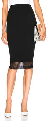 Victoria Beckham Lace Detail Pencil Skirt