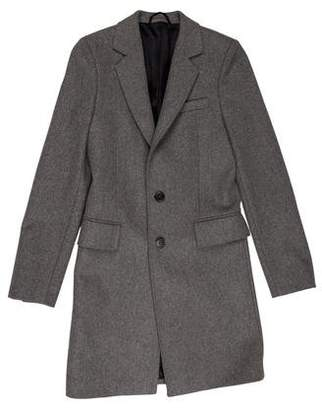 Balenciaga 2007 Wool Notch-Lapel Overcoat