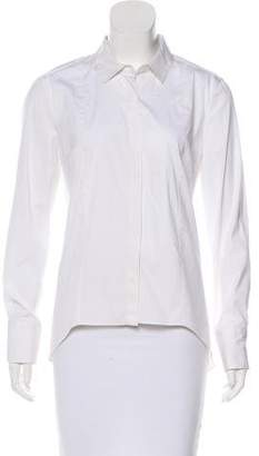 Brunello Cucinelli Long Sleeve Button-Up Top