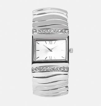 Avenue Silver Wave Stretch Watch