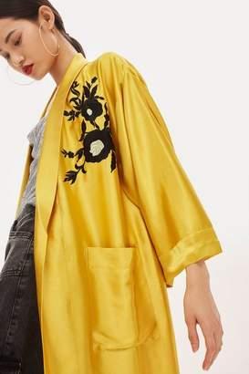 Topshop Petite Embroidered Kimono