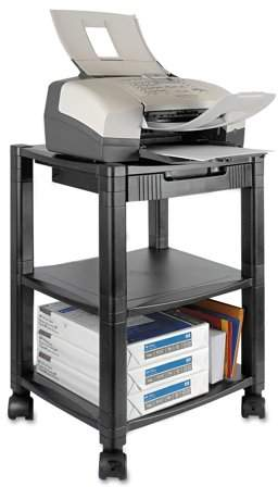 Kantek 3-Shelf Mobile Printer/Fax Stand