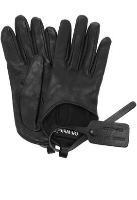 Off-White Leather Gloves Size: 8.5