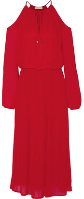 MICHAEL Michael Kors - Cutout Georgette Dress - Red $190 thestylecure.com