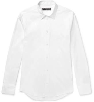 Balenciaga Slim-Fit Stretch Cotton-Blend Poplin Shirt