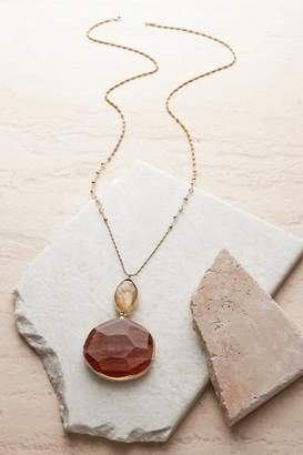Soft Surroundings Sparkle Agate Pendant Necklace
