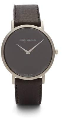 Larsson & Jennings Lugano stainless-steel and leather watch