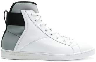 Diesel Black Gold panelled hi-top sneakers