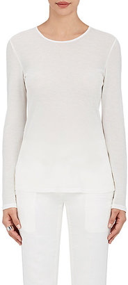 Calvin Klein Women's Gauze Long-Sleeve T-Shirt $395 thestylecure.com