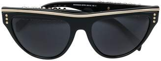 Moschino silver trimmed flat top cat-eye sunglassess