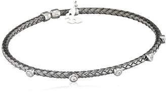 Vamp London Entwined Dainty Black Plated Sterling Silver Bracelet ENB003-OX-C