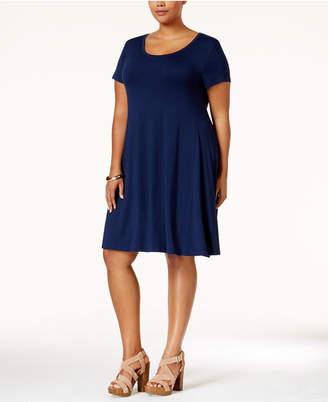 bab60420585 Style Co. Style   Co Plus Size Short-Sleeve Swing Dress