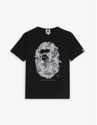 A Bathing Ape Be@rbrick print cotton T-shirt 4-8 years