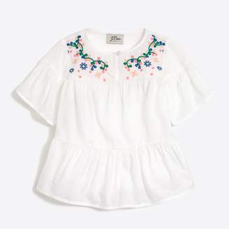 J.Crew Factory Girls' embroidered peasant top