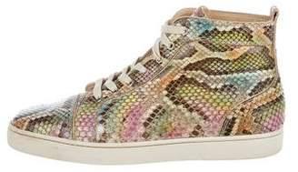 Christian Louboutin Louis Flat Python Aquarel Sneakers