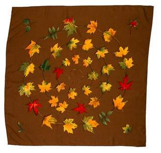 Hermes A Walk in the Park Cashmere Silk Scarf