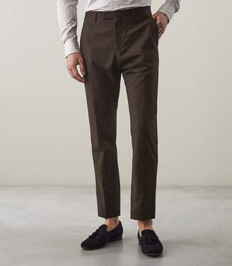 Reiss LUCAS T SLIM FIT TAILORED TROUSERS Brown