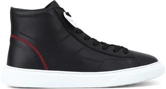Hogan H365 Black Leather Hi-top Sneakers