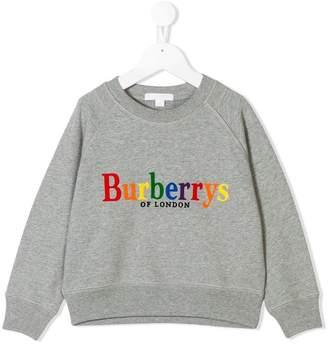 Burberry rainbow logo sweatshirt