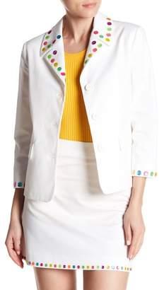 Love Moschino Rainbow Dot Trim Blazer