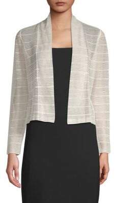 Akris Striped Open-Front Top