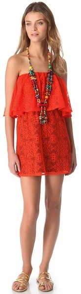 T-Bags Tbags los angeles Strapless Crochet Necklace Dress