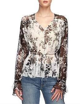 Lover Midsummer Silk Blouse
