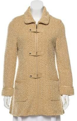 Courreges Textured Collard Coat