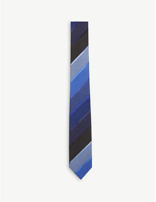 Paul Smith Diagonal stripe silk tie