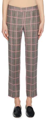 Giorgio Armani Straight-Leg Plaid Crop Pants