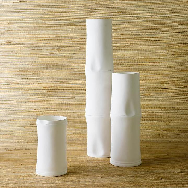 Bone China Bamboo Vases
