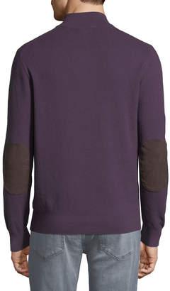 Michael Kors Men's Mock-Neck Elbow-Patch Sweater