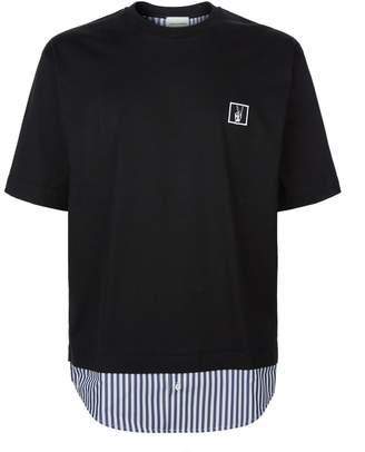 Solid Homme Stripe Trim T-Shirt