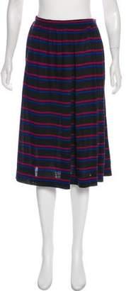 Christian Dior Striped Knee-Length Skirt