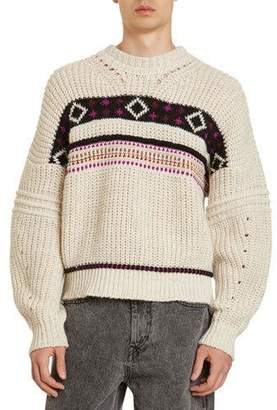 Isabel Marant Men's Cooper Western Patterned Sweater