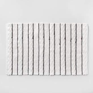 Opalhouse Striped Bath Rug White/Black