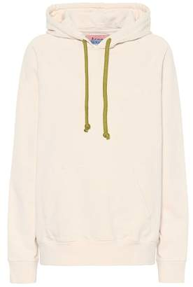 Acne Studios Blå Konst hooded cotton sweatshirt