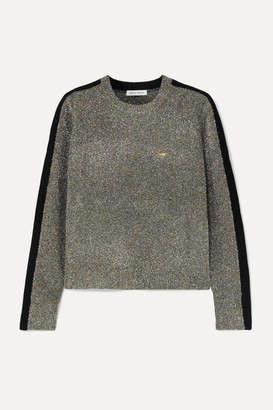Bella Freud Teeny Bopper Cropped Metallic Knitted Sweater - Green