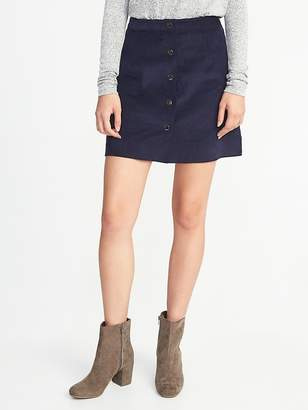 Old Navy Corduroy Snap-Front A-Line Mini for Women