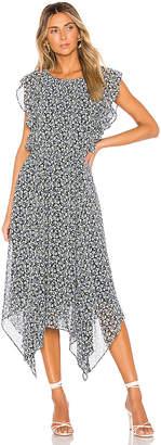 1 STATE Flounce Ruffle Cascading Calico Dress