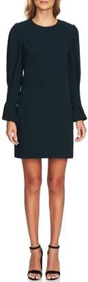 CeCe Flutter Sleeve Crepe Shift Dress